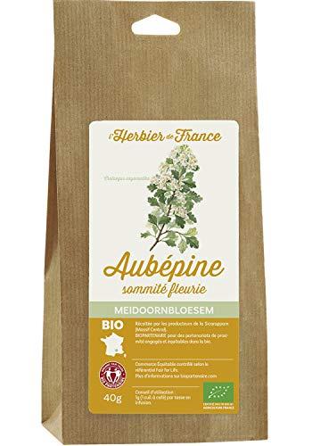 L'Herbier de France Aubépine Sommités Bio Sachet Kraft 40 g