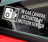 5 Pegatinas de seguridad para vehículo, advertencia de cámara CCTV activada por sensor de movimiento, pegatinas para coche, furgoneta, camión, taxi, autobús, 87 x 30 mm