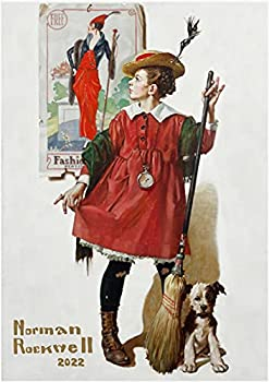 2022 Wall Calendar [12 pages 8 x11 ] Norman Rockwell Awesome Girls Magazine Cover Art Vintage Poster