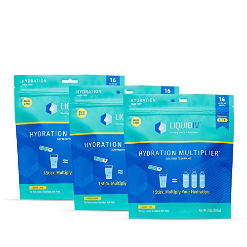 Liquid I.V. Hydration Multiplier, Electrolyte Powder, Easy Open Packets, Supplement Drink Mix (48)