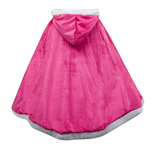 Le SSara Princesa de Las niñas de Navidad Disfraces Cosplay Vestido de Mariposa (120, PJ-Rose Red)