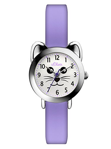 s.Oliver Mädchen Analog Quarz Smart Watch Armbanduhr mit Silikon Armband SO-3565-PQ