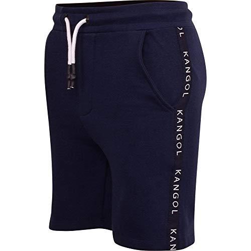 Kangol Original Herren-Shorts aus Fleece, elastischer Bund, für den Sommer, Jogging-Shorts Gr. XL, Marineblau Kangol Troy