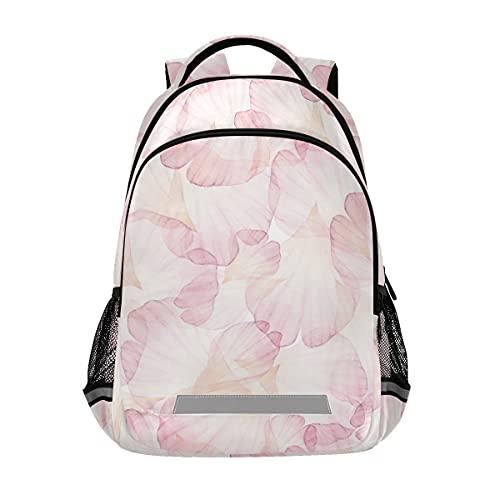 Flower Petals Mochilas para estudiantes Mochila para niños y niñas, bolsa casual