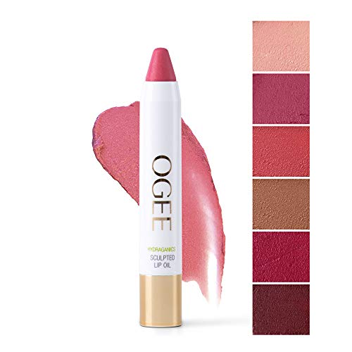 Ogee Tinted Sculpted Lip Oil - Made with 100% Organic Coconut Oil, Jojoba Oil, and Vitamin E - Best as Lip Balm, Lip Color or Lip Treatment - CAMELLIA
