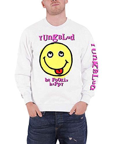 Yungblud Sudadera Raver Smile Logo Oficial Blanco Unisex