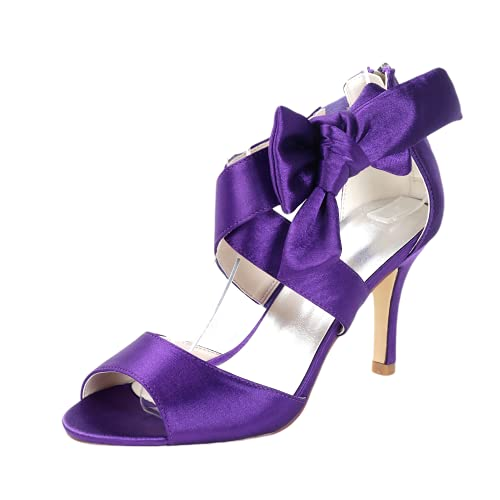SHUTUP.DANCE Zapatos de tacón alto para mujer, con punta abierta, para novia,...