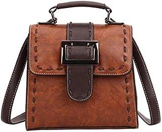 TOOGOO Women's PU Leather Backpack Female Fashion Small Bag Backpack Teen Girl Retro Shoulder Bag Dark Brown