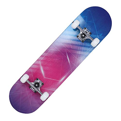 Waveboards Skateboard Komplettboard für Kinder Jungendliche und Erwachsene mit ABEC-9 Kugellager und 7-lagigem Ahornholz 95A Rollenhärte Funboard 80 x 20 x 11cm Belastung 200 KG für Anfänger und Profi