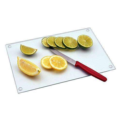 Planche à découper en verre - pour la cuisine - transparent - 300 x 200 mm