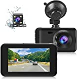 Dash Cam Front and Rear 1080P FHD 2021 Dual Dash Camera for Cars SSONTONG 3' IPS Dashcam with 170° Wide Angle, WDR & F1.8 Aperture for Super Night Vision, Loop Recording, G-Sensor, Parking Monitor