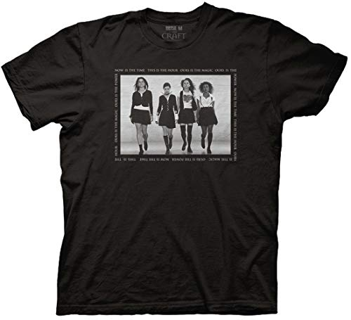 Ripple Junction The Craft Adult Unisex Now is The Time Square Text T-Shirt Large Black
