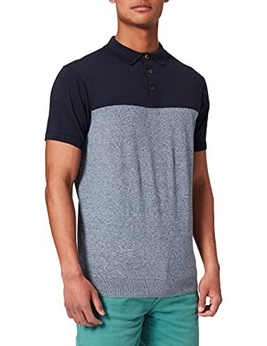 Springfield Polo Block TORZA Suéter, Azul Oscuro, S para Hombre