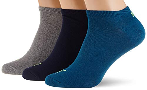 PUMA Unisex Plain Sneaker - Trainer Socks (3 Pack)