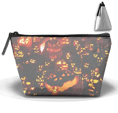 Horror Halloween Night Cosmetic Bag Fashion Makeup Bags Travel Case with Handle