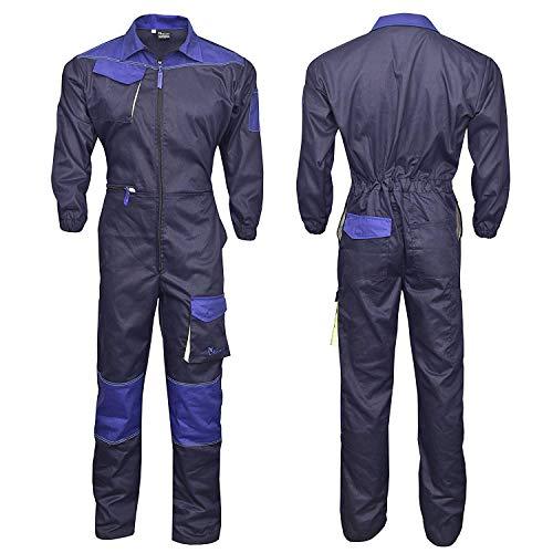 Tuta da lavoro da uomo, tuta da caldaia, tuta meccanica, blu navy (3XL)