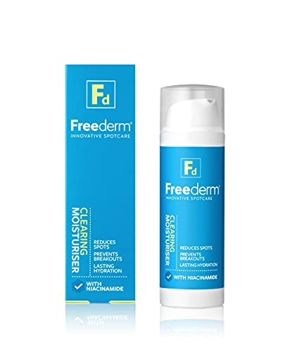 FREEDERM Clearing Oil-Free Face Moisturiser for Spot Prone Skin With Niacinamide, 50 ml