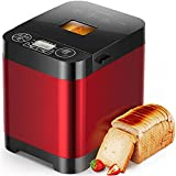HadinEEon Bread Machine, 13-in-1 Programmable Stainless Steel Bread Maker 1.5LB Incl Gluten Free, Fruit & Nuts, 3 Crust Colors & 2 Loaf Sizes, Cake & Yogurt, 1 Hr Keep Warm, Nonstick Pan and Recipes