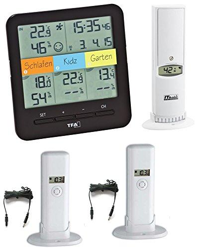 Preisvergleich Produktbild TFA Dostmann KlimaHome Top TFA 30.3060 Top Funk-Thermo / Hygro-Station incl. Kabelsender (schwarz)
