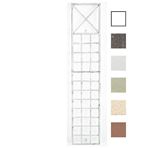 CLP Metall-Rankgitter Trigo zur Wandbefestigung I Rankhilfe für die Wand I Rankzaun aus lackiertem Metall I erhältlich, Farbe:antik weiß