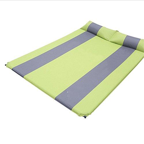 Song6 Strandzelt Automatisches aufblasbares Kissen-Doppelmatratze-Auflage-Verdickungs-im Freien kampierendes Auflagen-Matten-Zelt verbreitert Camping Zelt (Color : Green)