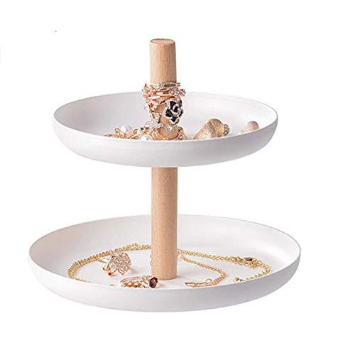 quanzhoushiMatt Gibbon Ceramic Ring Holder, Holder with Dish, Jewellery Bracelet Organizer, Ring Dish Jewelry Holder Rings Bracelets Earrings Trinket Tray for Women Girls Birthday Gift