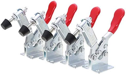 4 PCS 60 Lbs Antislip Covered Hand Tool Toggle Clamp Horizontal