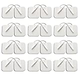 TENS Unit Pads 2X2 24 Pcs Replacement Pads for Tens Unit, Reusable Electrode Patches for Electrotherapy -Universally Compatible with Most TENS Machine Models