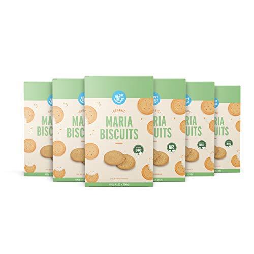 Amazon-Marke: Happy Belly - Marie-Kekse, Bio, 6 x 400 g