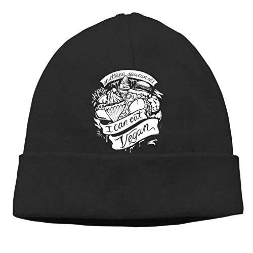 Vegano para Cada Gorro Unisex Divertido Cool Slouch Hip-Hop Skull Cap Hip-Hop Winter Summer Hat