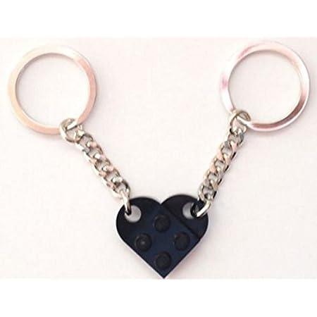 LEGO Light Bluish Grey Love Heart Keychain Keyring Present Birthday Gift NEW