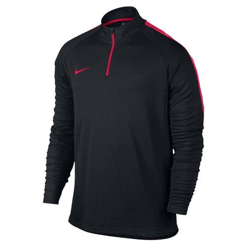 Nike Herren Dry Academy Dril Fußballoberteil Mit Kurzreißverschluss, Schwarz/Sirene Rot, S