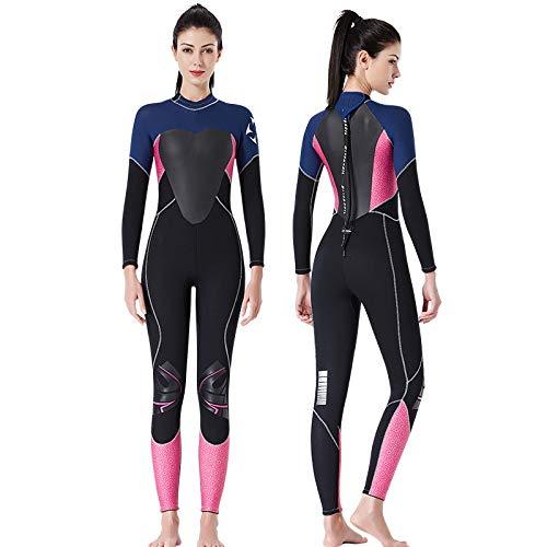 QSFDM Traje de Buceo Engrosado 3.5 mm Mujeres Traje de baño Traje de baño de Neopreno Remiendo Fullbody Traje Mojado Scuba Snorkel Traje de Pesca submarina