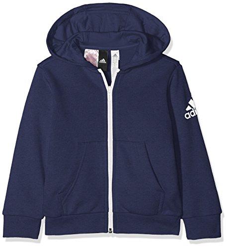 adidas Jungen Logo Full-Zip Hoodie, Noble Indigo/Collegiate Navy, 176