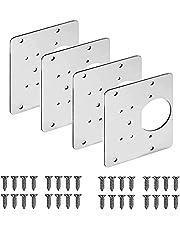 2/4PCS Hinge Side Plate Repair Piece, Hinge Repair Brackets, Cabinet Hinge Repair Brackets, Kitchen Cupboard Door Hinge Repair Plate Kit (4PCS)