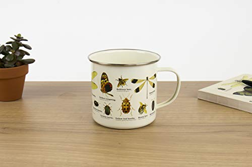 Gift Republic GR270097 Insects Enamel Mug, Multicolor