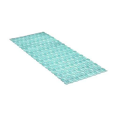 TATAY 5510003 - Alfombra antideslizante para ducha o bañera con diseño de peces, 97 x 36, turquesa translúcido