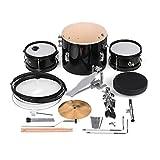 ABMBERTK Set de batería de 3 Piezas para Principiantes Kit de batería Instrumento Musical de percusión, con batería de platillos Taburete Ajustable, como espectáculo