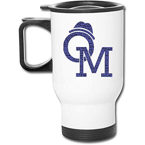 Olly MURS Songs Edelstahl-Doppelwandvakuumkaffeetasse mit spritzwassergeschütztem Deckel für HotCold-Getränke
