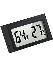 Mini Termómetro Higrómetro Digital Interior de Temperatura y Humedad, Negro