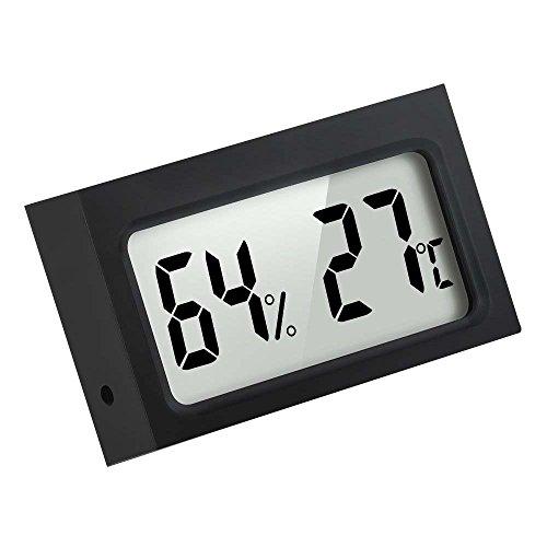 Mini Indoor Digitale Temperaturanzeige Feuchtigkeit Monitor Thermometer Hygrometer, Schwarz
