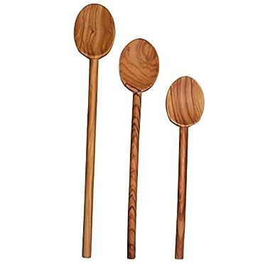 Scanwood Olive Wood Spoon (3 Cooking Spoon Set 10  12  14 )
