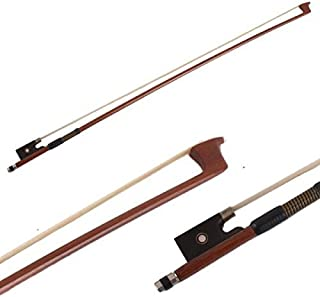 Violin Bow 4/4 Size Octagonal Stick Ebony Frog Horse Hair for Violin Parts (4/4)
