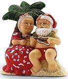 Hawaiian Christmas Ornament Serenading Santa