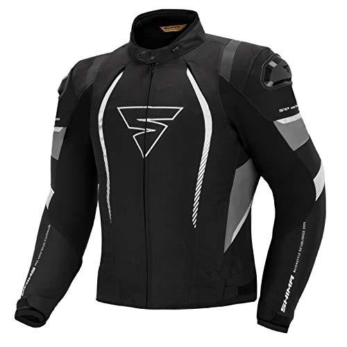 SHIMA SOLID PRO BLACK, City Herren Ganzjahres Motorradjacke mit Protektoren (Schwarz, XL)
