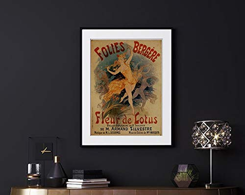 Folies Bergere, Vintage Poster, Woman And Dancer, Beige And Red, Iconic, Wall Decor, Retro Style, Home Decor, Gift Idea #2012 | Poster No Frame Board For Office Decor, Best Gift For Family And Your Fr