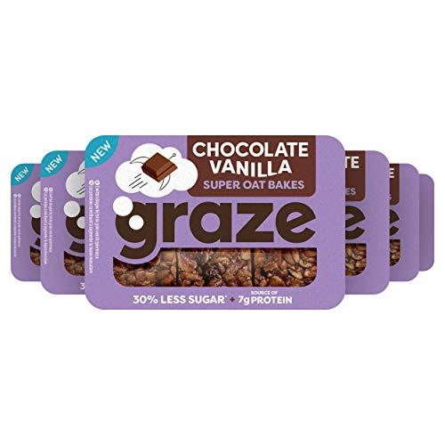 Graze Chocolate Vanilla Protein Oat Bites Havermoutrepen – 6 x 3 repen (53 g)