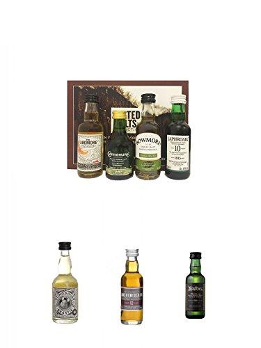 Peated Malts of Distinction 4 x 5 cl Miniaturen + Timorous Beastie 0,05 Liter Miniatur + Auchentoshan 12 Jahre Single Malt Whisky Miniatur 5 cl + Ardbeg Ten 10 Jahre Single Malt Whisky Miniatur 5 cl