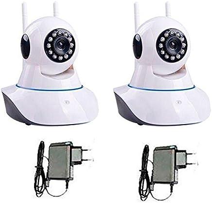 Kit 2 Câmeras de Segurança Ip Sem Fio Wifi Hd 720p Robo Wireless