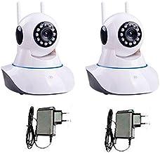 Kit 2 Cmeras de Segurança Ip sem Fio Wifi Hd 720p Robo Wireless